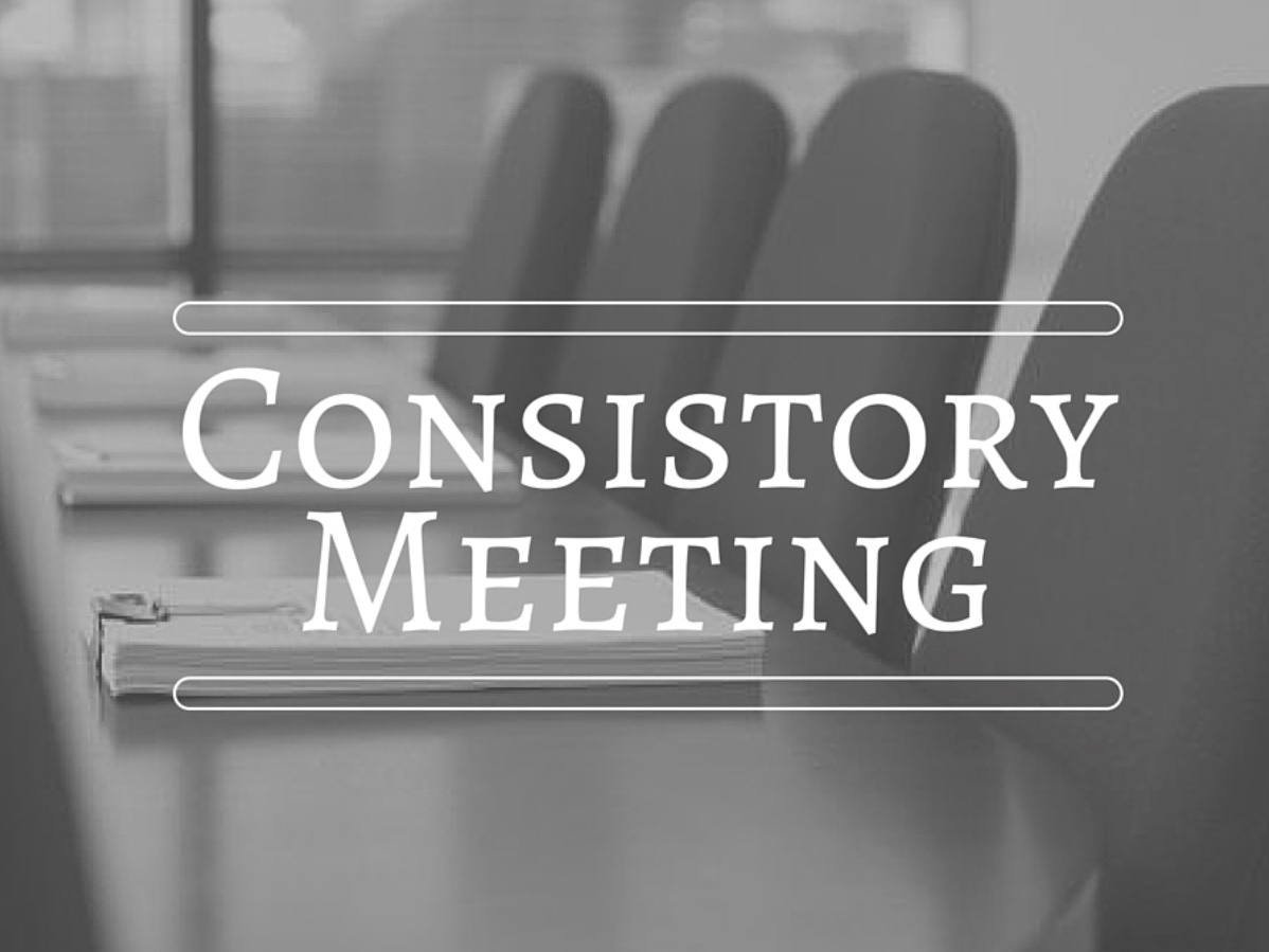 Consistory Meeting